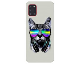 Husa Silicon Soft Upzz Print Samsung Galaxy A31 Model Cat