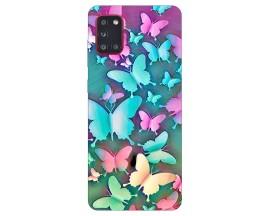 Husa Silicon Soft Upzz Print Samsung Galaxy A31 Model Colorfull Butetrflies