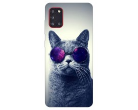 Husa Silicon Soft Upzz Print Samsung Galaxy A31 Model Cool Cat