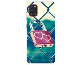 Husa Silicon Soft Upzz Print Samsung Galaxy A31 Model Heart Lock