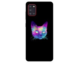 Husa Silicon Soft Upzz Print Samsung Galaxy A31 Model Neon Cat