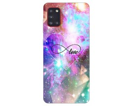 Husa Silicon Soft Upzz Print Samsung Galaxy A31 Model Neon Love
