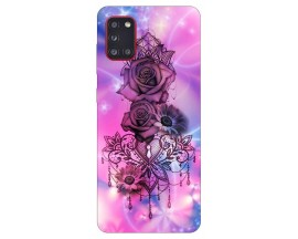 Husa Silicon Soft Upzz Print Samsung Galaxy A31 Model Neon Rose