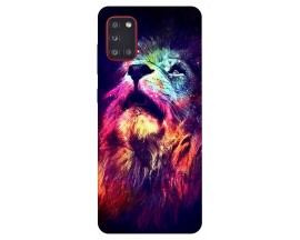 Husa Silicon Soft Upzz Print Samsung Galaxy A31 Model Neon Lion