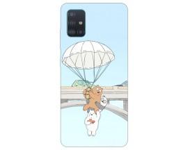 Husa Silicon Soft Upzz Print Samsung Galaxy M31s Model Three Bears