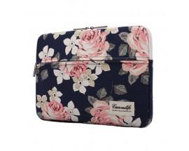 Husa Upzz Tech Briefcase Canvaslife Sleeve Compatibila Cu Laptop / Macbook 15-16 Inch Rose