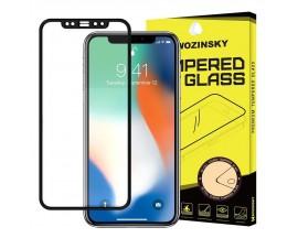 Folie Sticla Securizata Wozinsky Full Cover Pentru iPhone 12 Mini ,Transparenta cu Margine Neagra