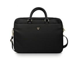 Husa Geanta Premium Originala Guess Laptop / Macbook 15-16 Inch Negru Triangle Logo - Gucb15ntmlbk