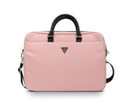 Husa Geanta Premium Originala Guess Laptop / Macbook 15-16 Inch RozTriangle Logo - GUCB15NTMLLP