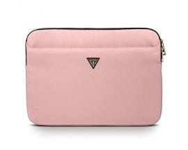 Husa  Premium Originala Guess Sleeve  Laptop / Macbook 13 Inch Roz Triangle Logo - GUCS13NTMLLP