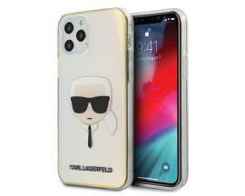 Husa Premium Karl Lagerfeld iPhone 12 / iPhone 12 Pro ,Colectia Multicolor Iridescent Karl Head - KLHCP12MPCKHML