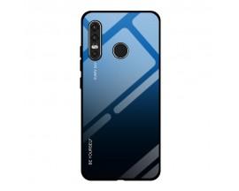 Husa Spate Upzz Gradient Glass Pentru Huawei P30 Lite, Spate Sticla Rezistenta , Negru Albastru