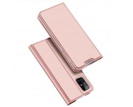 Husa Flip Cover Premium Duxducis Skinpro Samsung Galaxy M31s, Rose Gold