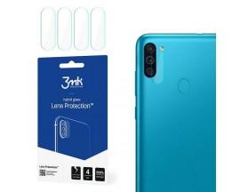 Set 4 X Folie Sticla Nano Glass 3mk Pentru Camera Samsung Galaxy M11. Transparenta