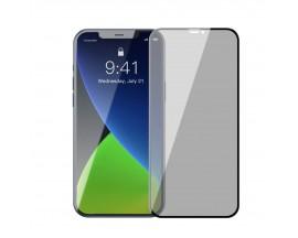 Set 2 x Folie Sticla Securizata Premium Baseus Pentru iPhone 12 / iPhone 12 Pro , Privacy