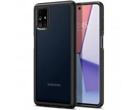 Husa Premium Originala Spigen Ultra Hybrid  Samsung Galaxy M51, Negru Transparent-acs01458