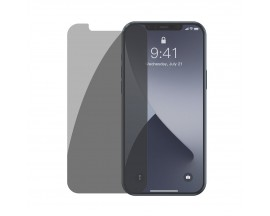 Set 2 X Folie Sticla Securizata Premium Baseus Pentru iPhone 12 Pro Max, Privacy Fara Rama -SGAPIPH67N-LK02