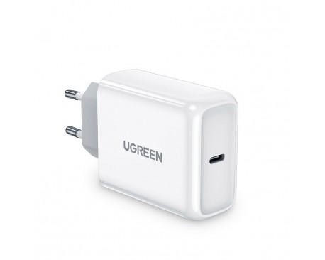 Incarcator Retea Ugreen Fast Charger Cu Port Type-C 45W ,Compatibil Cu iPhone 12 /12 Pro / 12 Pro Max ,Samsung ,Huawei, Alb