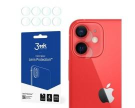 Set 4 Buc Folie Nano Glass Pentru Camera 3mk iPhone 12, Transparenta