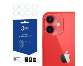 Set 4 Buc Folie Nano Glass Pentru Camera 3mk iPhone 12 Mini, Transparenta