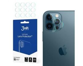 Set 4 Buc Folie Nano Glass Pentru Camera 3mk iPhone 12 Pro, Transparenta