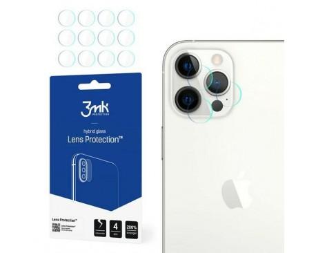 Set 4 Buc Folie Nano Glass Pentru Camera 3mk iPhone 12 Pro Max, Transparenta