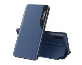 Husa Tip Carte Upzz Eco Book Compatibila Cu Huawei P30 Pro, Piele Ecologica - Albastru