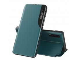 Husa Tip Carte Upzz Eco Book Compatibila Cu Huawei P30 Pro, Piele Ecologica - Verde