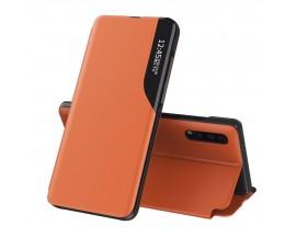 Husa Tip Carte Upzz Eco Book Compatibila Cu Huawei P30 Pro, Piele Ecologica - Orange