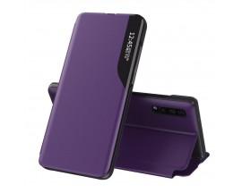 Husa Tip Carte Upzz Eco Book Compatibila Cu Huawei P30 Pro, Piele Ecologica - Mov