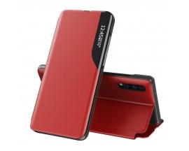 Husa Tip Carte Upzz Eco Book Compatibila Cu Huawei P30 Pro, Piele Ecologica - Rosu