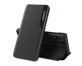 Husa Tip Carte Upzz Eco Book Compatibila Cu Huawei P40 Lite, Piele Ecologica - Negru