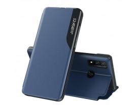 Husa Tip Carte Upzz Eco Book Compatibila Cu Huawei P40 Lite, Piele Ecologica - Albastru