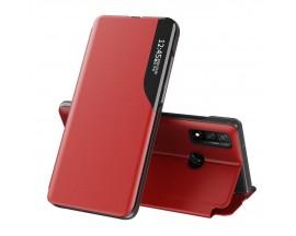 Husa Tip Carte Upzz Eco Book Compatibila Cu Huawei P40 Lite, Piele Ecologica - Rosu