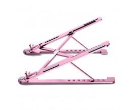 """Suport Laptop Universal Premium Upzz  Protect Din Aluminiu, Pliabil - Roz Pentru Laptop-uri 14""""-17"""""""