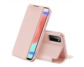 Husa Premium Duxducis Skin X  Flip Cover Samsung Galaxy A31, Roz