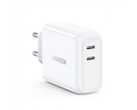Incarcator Retea Ugreen Fast Charger 4.0, Iesire Dual 2 x Type-C 36W ,Compatibil Cu iPhone 12 /12 Pro / 12 Pro Max ,Samsung