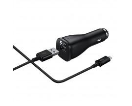 Incarcator Auto Fast Charging 15W 3.0  Original Samsung Cu Cablu MicroUsb ,Blister -Negru