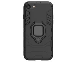 Husa Spate Upzz Ring Armor Hybrid iPhone 7 / 8 / SE 2020, Negru