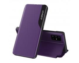 Husa Tip Carte Upzz Eco Book Compatibila Cu Samsung Galaxy A51, Piele Ecologica - Mov