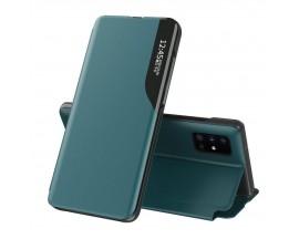 Husa Tip Carte Upzz Eco Book Compatibila Cu Samsung Galaxy A51, Piele Ecologica - Verde