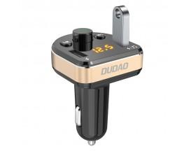 Incarcatot Auto Modulator Fm Audio Bluetooth Mp3 Dudao , Cu 2 Porturi De Incarcare ,negru Gold