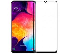 Folie Protectie Ecran Hybrid Upzz Ceramic Full Glue Pentru Samsung Galaxy A50, Transparenta Cu Margine Neagra