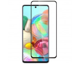 Folie Protectie Ecran Hybrid Upzz Ceramic Full Glue Pentru Samsung Galaxy A71, Transparenta Cu Margine Neagra