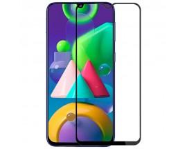 Folie Protectie Ecran Hybrid Upzz Ceramic Full Glue Pentru Samsung Galaxy M21, Transparenta Cu Margine Neagra