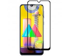 Folie Protectie Ecran Hybrid Upzz Ceramic Full Glue Pentru Samsung Galaxy M31s, Transparenta Cu Margine Neagra