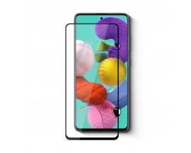 Folie Protectie Ecran Hybrid Upzz Ceramic Full Glue Pentru Samsung Galaxy M51, Transparenta Cu Margine Neagra
