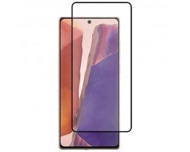 Folie Protectie Ecran Hybrid Upzz Ceramic Full Glue Pentru Samsung Galaxy Note 20, Transparenta Cu Margine Neagra