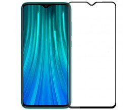 Folie Protectie Ecran Hybrid Upzz Ceramic Full Glue Pentru Xiaomi Redmi Note 8 Pro, Transparenta Cu Margine Neagra