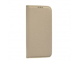 Husa Flip Cover Upzz Smart Book Pentru Samsung Galaxy M51, Gold